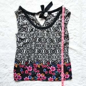 Candie's Mosaic Floral Tank Top Blouse